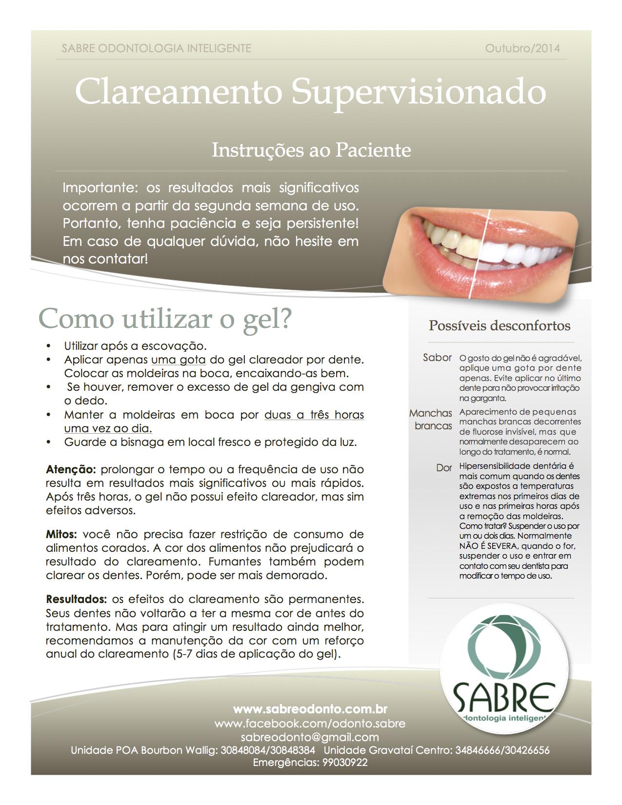 Manual Para O Paciente Sabre Sabre Odonto Dentistas Gravatai E