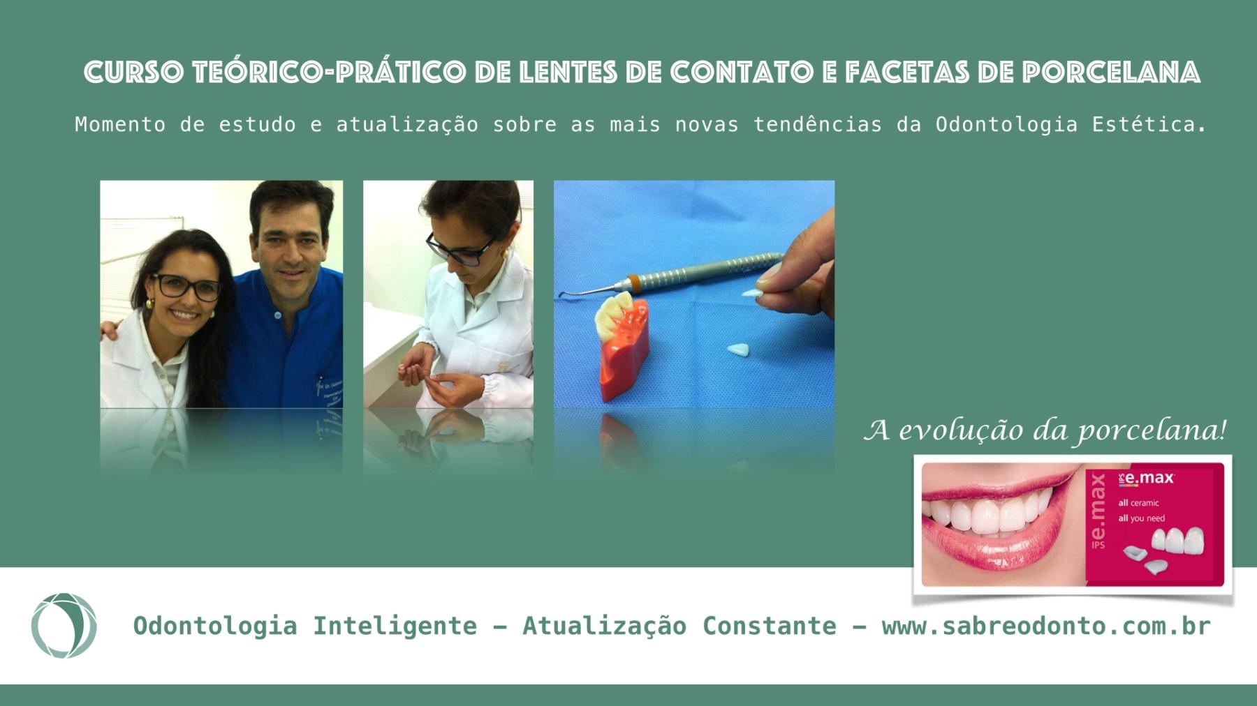 curso facetas de porcelana. odontologia estética, lentes de contato, sabreodonto, sabre odontologia inteligente