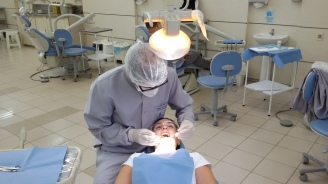 Dr. Jasper em seu mestrado na Faculdade de Odontologia da UFRGS